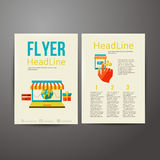 Abstract Brochure Flyer design, online payment Stock Photography