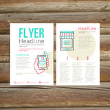 Abstract Brochure Flyer design, online payment Royalty Free Stock Images