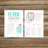 Abstract Brochure Flyer design, success Royalty Free Stock Photography