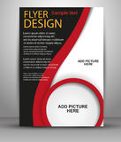 Abstract brochure flyer design template. Stock Image