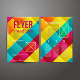 Abstract Brochure Flyer design Royalty Free Stock Image