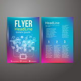 Abstract Brochure Flyer design Royalty Free Stock Photography