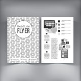 Abstract  Brochure Flyer design vector template Royalty Free Stock Photography