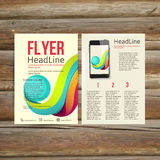 Abstract  Brochure Flyer design vector template. Stock Photos
