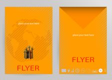Abstract Brochure Flyer design vector template Royalty Free Stock Image