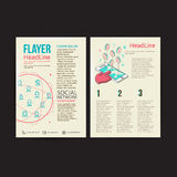 Abstract  Brochure Flyer design vector template. Stock Photography