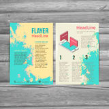 Abstract  Brochure Flyer design vector template. Royalty Free Stock Images