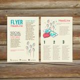 Abstract  Brochure Flyer design vector template. Royalty Free Stock Photos