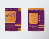 Abstract Brochure Flyer Thai style template in A4 size. Eps10 Royalty Free Stock Photography