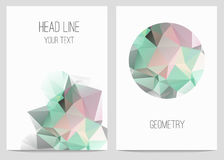 Abstract brochure and flyers in polygonal style. Royalty Free Stock Image