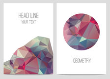 Abstract brochure and flyers in polygonal style. Stock Photos