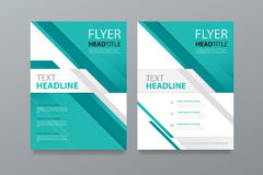 Abstract brochure template design .editable.book magazine cover. Stock Image