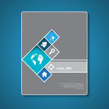 Abstract brochure template design Stock Photos