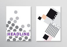 Abstract brochure template. Flyer Layout. Flat Style. Vector background Stock Photo
