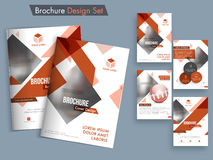 Abstract brochure, template or flyer set. Creative brochure template layout, Abstract cover design, Professional flyer presentation with space to add images Stock Image