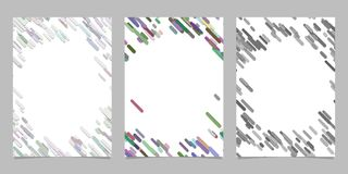 Abstract brochure template set with colored diagonal stripes. Abstract brochure background template set with colored diagonal stripes royalty free illustration