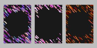 Abstract brochure template set with colored diagonal stripes. Abstract brochure background template set with colored diagonal stripes Stock Photos