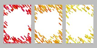 Abstract brochure template set with colored diagonal stripes. Abstract brochure background template set with colored diagonal stripes Stock Image