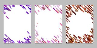 Abstract brochure template set with colored diagonal stripes. Abstract brochure background template set with colored diagonal stripes stock illustration