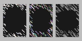 Abstract brochure template set with colored diagonal stripes. Abstract brochure background template set with colored diagonal stripes Stock Photo