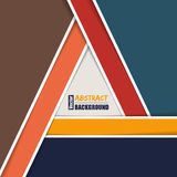 Abstract brochure template with triangle shaped by stripes Stock Photography