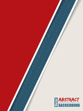 Abstract brochure with tire track stripe. Abstract red brochure design with blue tire track stripe Stock Photo
