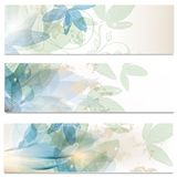 Abstract brochures set in floral style Stock Image