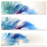 Abstract brochures set in floral style Royalty Free Stock Photography