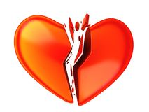 Abstract brocken heart Royalty Free Stock Images