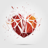 Abstract broken heart. 3d Vector illustration. Stock Images