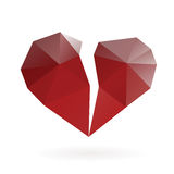 Abstract broken heart low poly design Stock Image