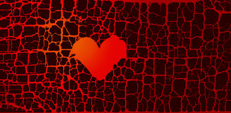 Abstract broken heart symbol. red hot love passion Royalty Free Stock Image