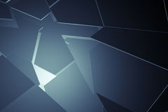 Abstract broken the surface. 3d illustration royalty free illustration