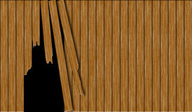Abstract broken wooden fence Royalty Free Stock Images