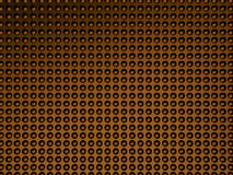 Abstract bronze 3d dotted background. 3d halftone. 3d illustration royalty free illustration