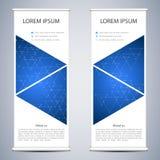 Abstract Broodje op banner voor presentatie en publicatie Wetenschap, technologie en bedrijfsmalplaatjes Vierkante lineair Royalty-vrije Stock Afbeeldingen