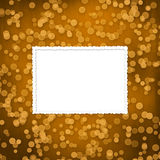 Abstract brown background with blur bokeh. For design Vector Illustration