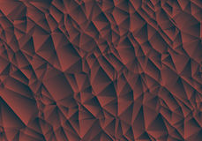 Abstract brown background consisting of triangles. Stock Photography