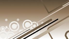 Abstract brown background with lines and circles Royalty Free Stock Images