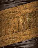 Abstract Brown Background With Wooden Frame Grunge. Royalty Free Stock Photography