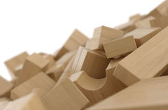 Wood blocks. On white background stock illustration