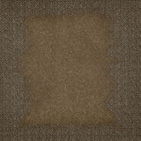 Abstract brown canvas background Stock Photography