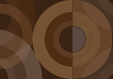Abstract Brown Circles Vector Background. Stock Photography