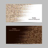 Abstract brown dotted background. Halftone. Vector illustration. Set of horizontal banners. Abstract brown dotted background. Halftone. Vector illustration vector illustration