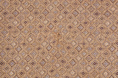 Abstract brown fabric texture with craftsmanship Royalty Free Stock Images