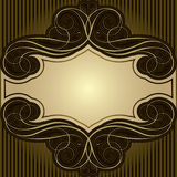 Abstract brown frame. Background retro frame label design,brown colored.Each of elements can easily regroup stock illustration