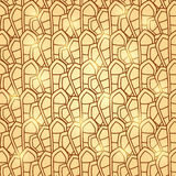 Abstract Brown Geometric Seamless Pattern Royalty Free Stock Photography