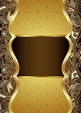 Abstract Brown and Gold Floral Background Stock Photography