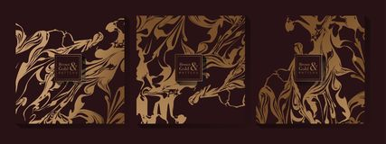Abstract Brown and Gold Pattern stock photography