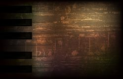 Abstract grunge background with retro microphone Stock Photography
